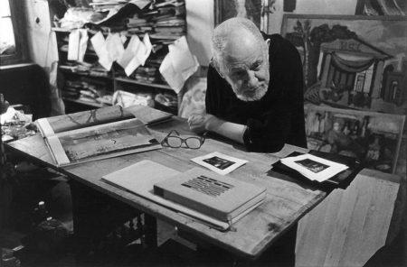Josef Sudek dans son atelier
