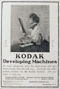 Le tirage argentique en photographie - Affiche kodak pour les Developing machines