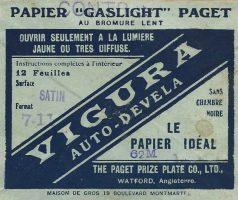 Le tirage argentique - Papiers gaslight Vigura [source web www.delcampe.net]