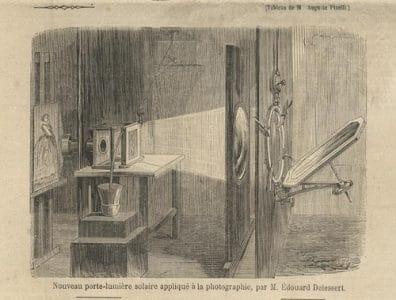Le tirage argentique en photographie - l'agrandisseur à héliostat [source web : http://www.luminous-lint.com/]