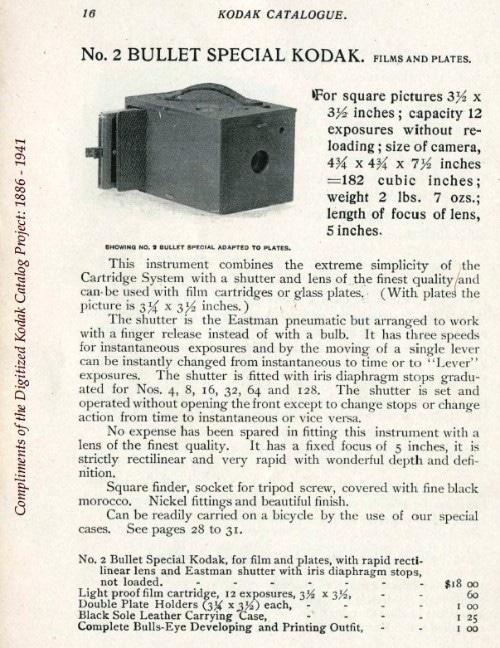 Le Kodak #2. Notice technique. / Source www.kodaksefke.nl