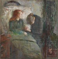 Edvard Munch L'enfant malade 1885-86 119,5X118,5 cm Oslo