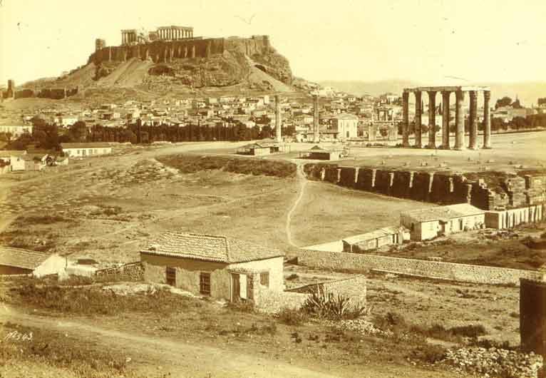 Bonfils, un photographe en Orient - Athènes-l'Acropole