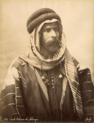 Bonfils, un photographe en Orient - Cheik bédouin de Palmyre