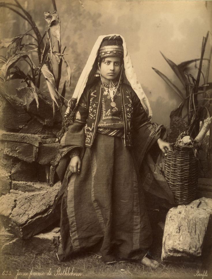 Bonfils, un photographe en Orient - Jeune fille de Béthléem