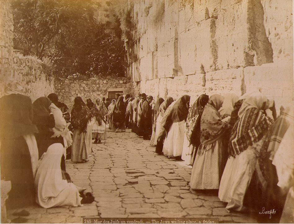 ©Bonfils - Mur des Juifs, un vendredi