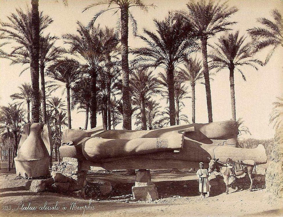 Bonfils, un photographe en Orient - Statue colossale de Memphis-Egypte