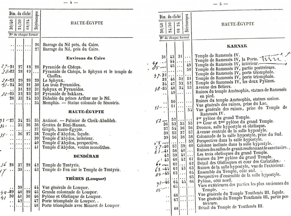 Bonfils, un photographe en Orient - extrait du catalogue de 1876