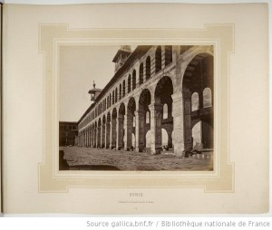 Bonfils, un photographe en Orient - Colonnade de la Grande mosquée